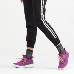 Purple Mesh Knit Slip-On Sneaker
